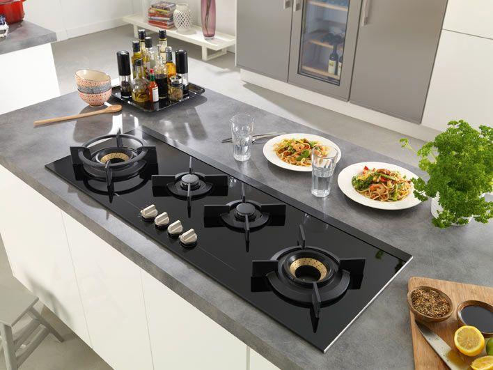 Fusion Design Keukens : Atag panoramische gaskookplaat met fusion volcano wokbranders