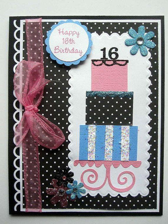 16th Birthday Card Ideas Google Search Card Ideas Pinterest