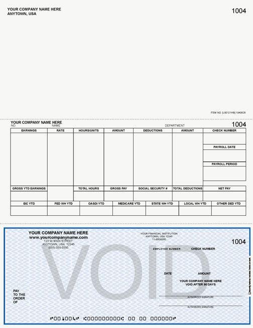 Lb330 Laser Inkjet Payroll Check Payroll Checks Business Checks Payroll Template
