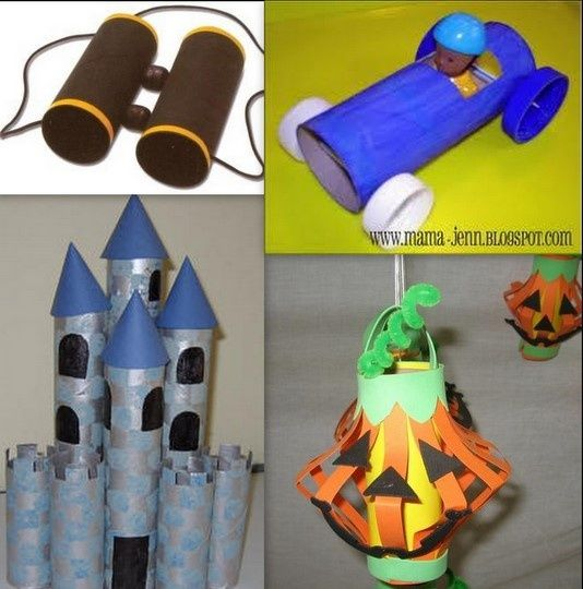 Crafts Made From Paper Towel Rolls: Toilet Paper And Paper Towel Rolls Kids-crafts