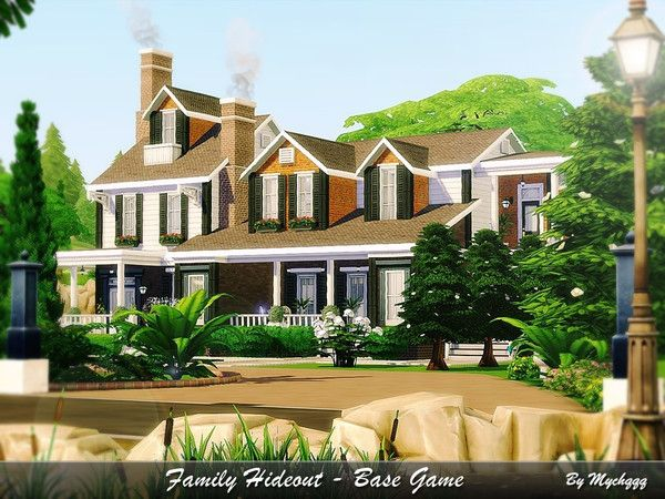 MychQQQ's Family Hideout - Base Game | sims homes  | Sims 4