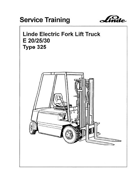 fork lift electric motor wiring diagram linde type 325 electric forklift truck e20  e25  e30 workshop  linde type 325 electric forklift truck