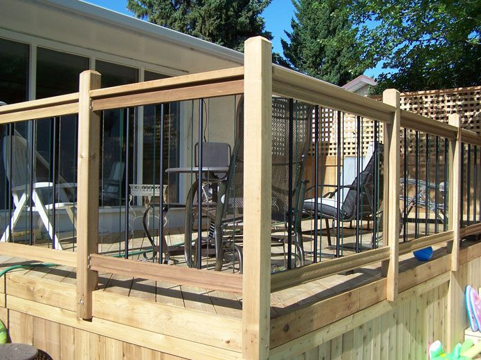 Deck railing ideas general fencing gates decks and for Balcony handrail