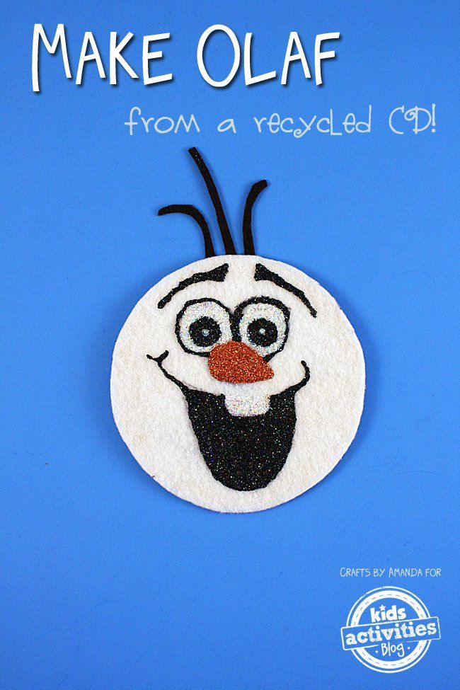 Recycled CD Olaf Craft