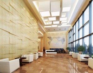Office building lobby design | 3d renderings | Pinterest | Office ...