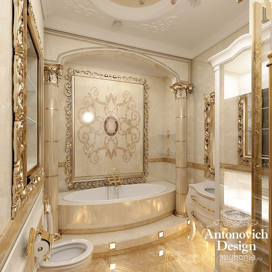 Antonovich design studio google keres s bathroom for Luxury bathroom designs