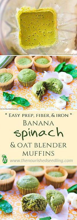 Banana, Spinach and Oat Blender Muffins | The Nourished Seedling