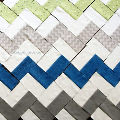 DreamPatch: Great cheveron type pattern from Crazy Mom Quilts ... : chevron quilt patterns - Adamdwight.com