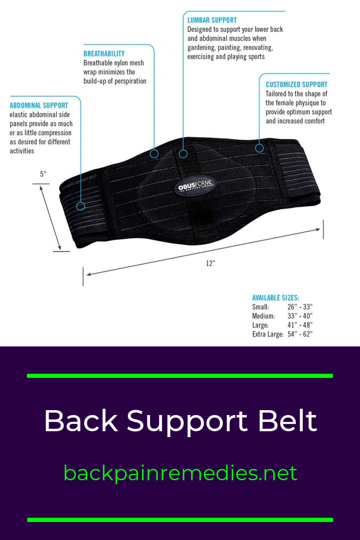 Pin on Back Support Belt to Prevent, Support & Ease Pain