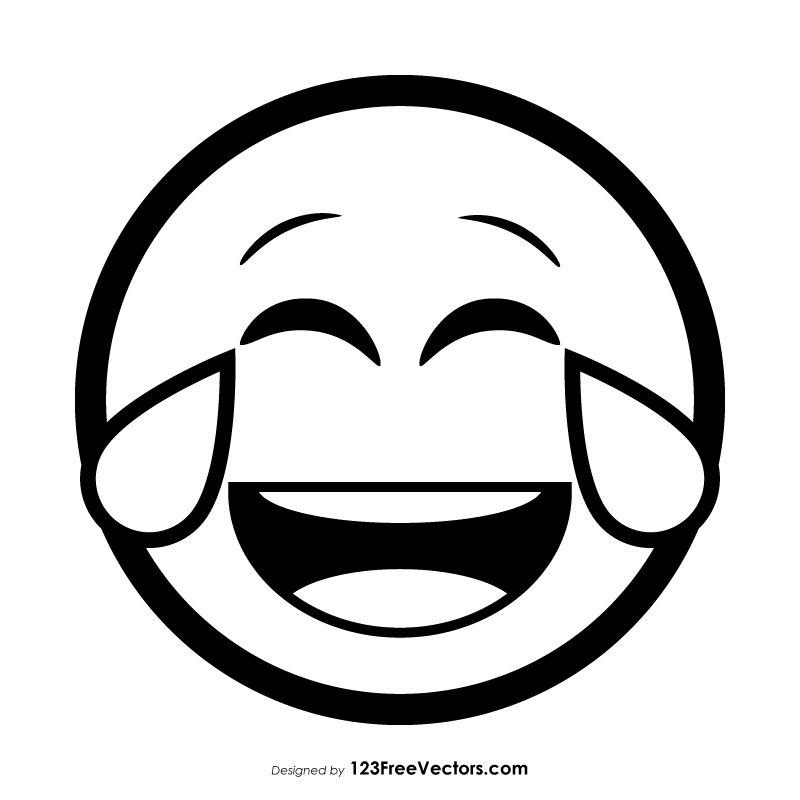 Face With Tears Of Joy Emoji Vector Download Emoji Coloring Pages Funny Cartoon Faces Emoji