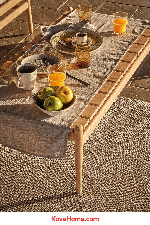 Mesa De Centro Simja 117 X 60 Cm Kave Home En 2020 Table Basse Jardin Table Basse Mobilier De Salon
