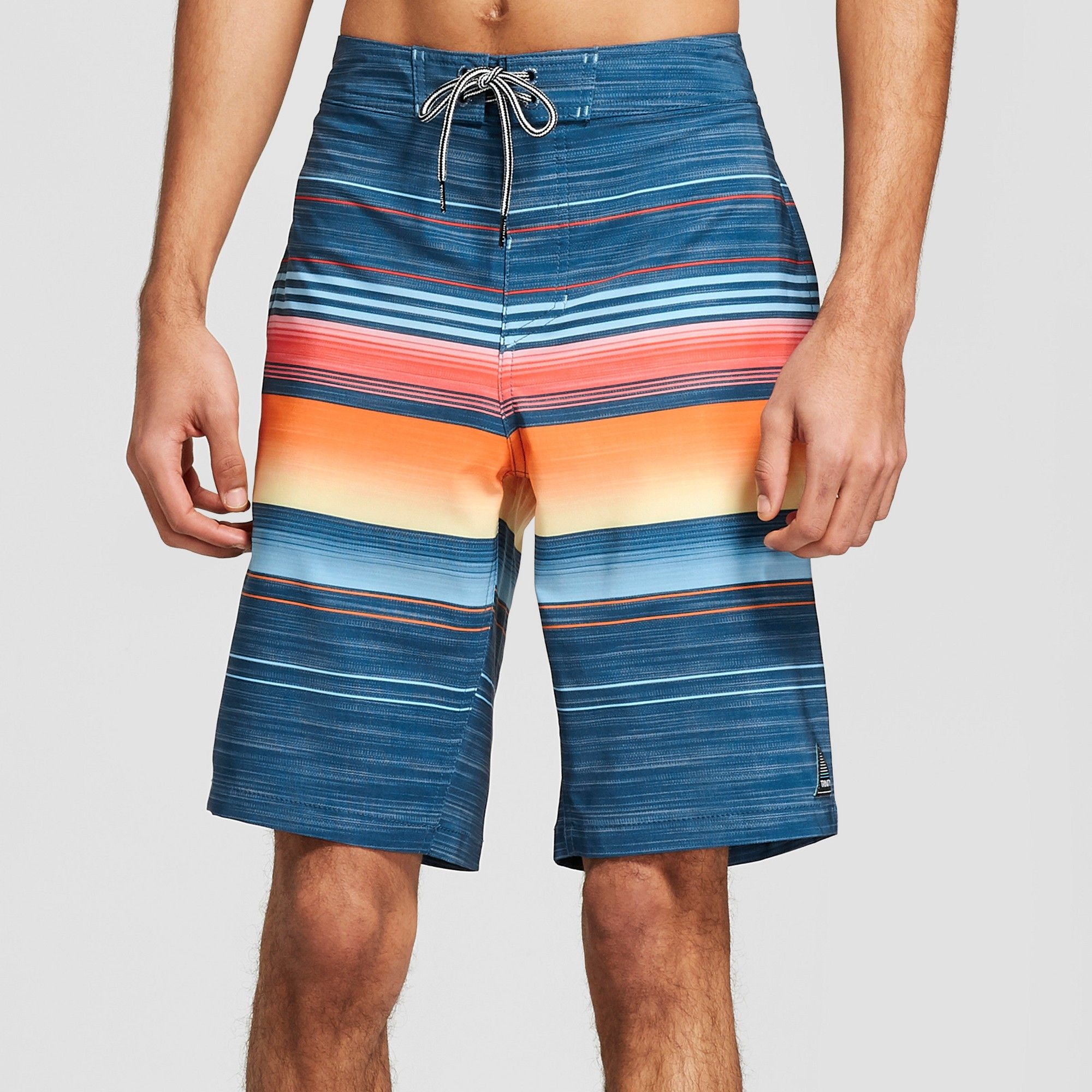 521d4eb1eda95 Trinity Collective Men's Striped 10 Blaster Board Shorts - Navy 40, Blue