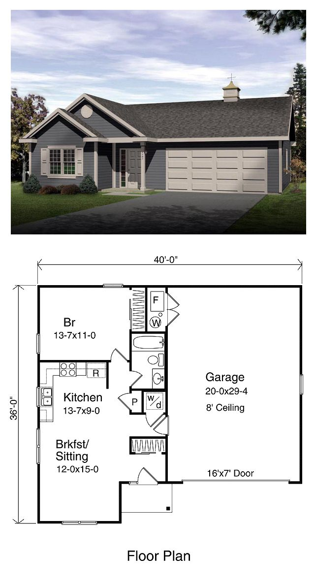 Garage apartment plan 49023 total living area 665 sq for 1 bedroom garage apartment