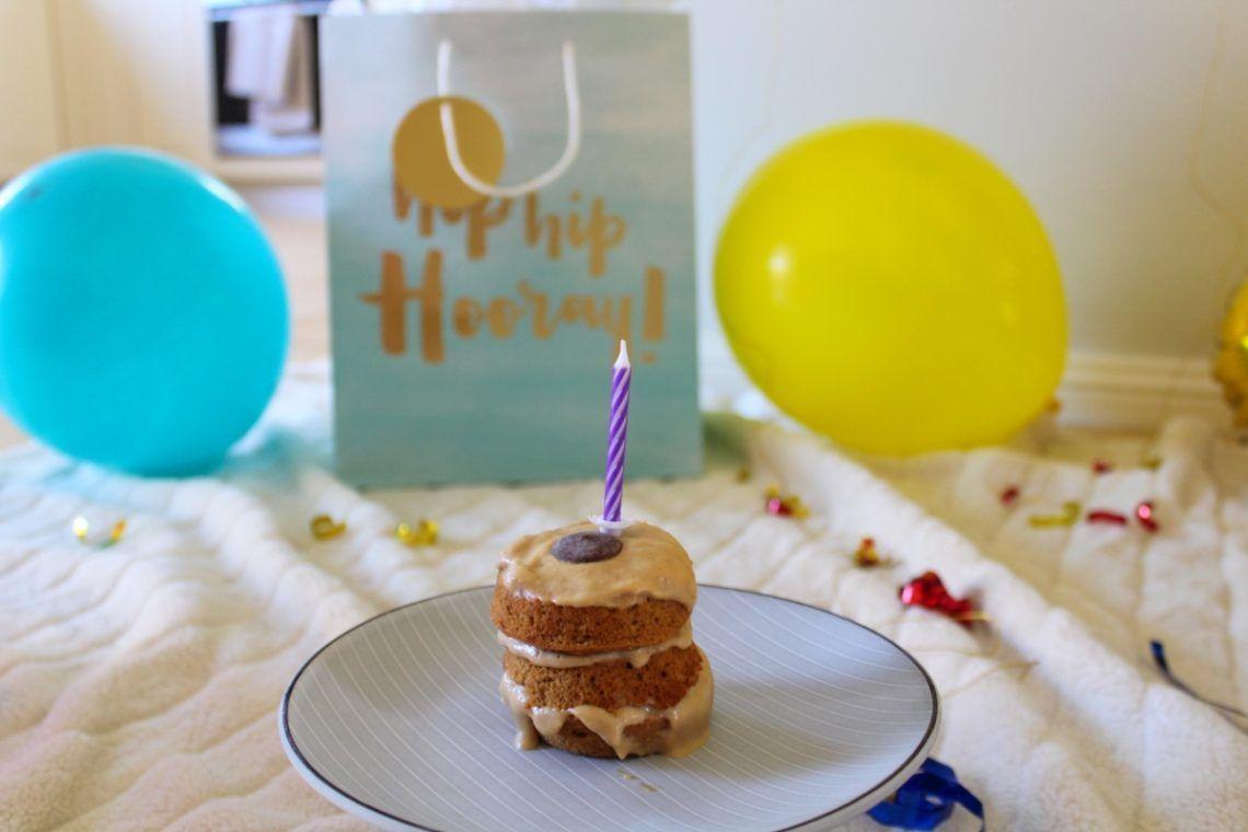 Easy diy puppy birthday cake peanut butter carrot apple