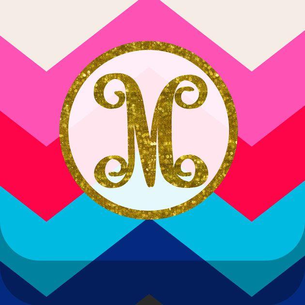 Monogram Wallpaper DIY Glitter Backgrounds Maker on the App