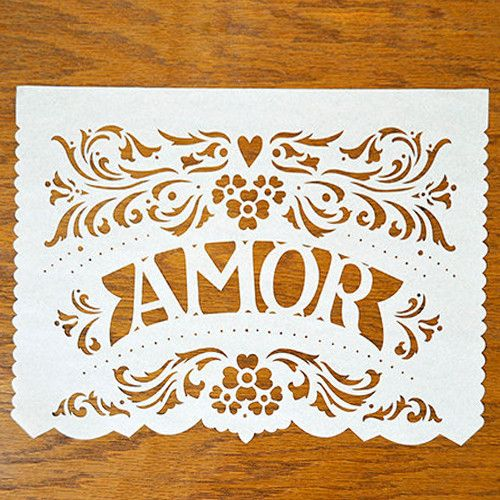 AMOR FILETEADO custom color banner | Ay Mujer