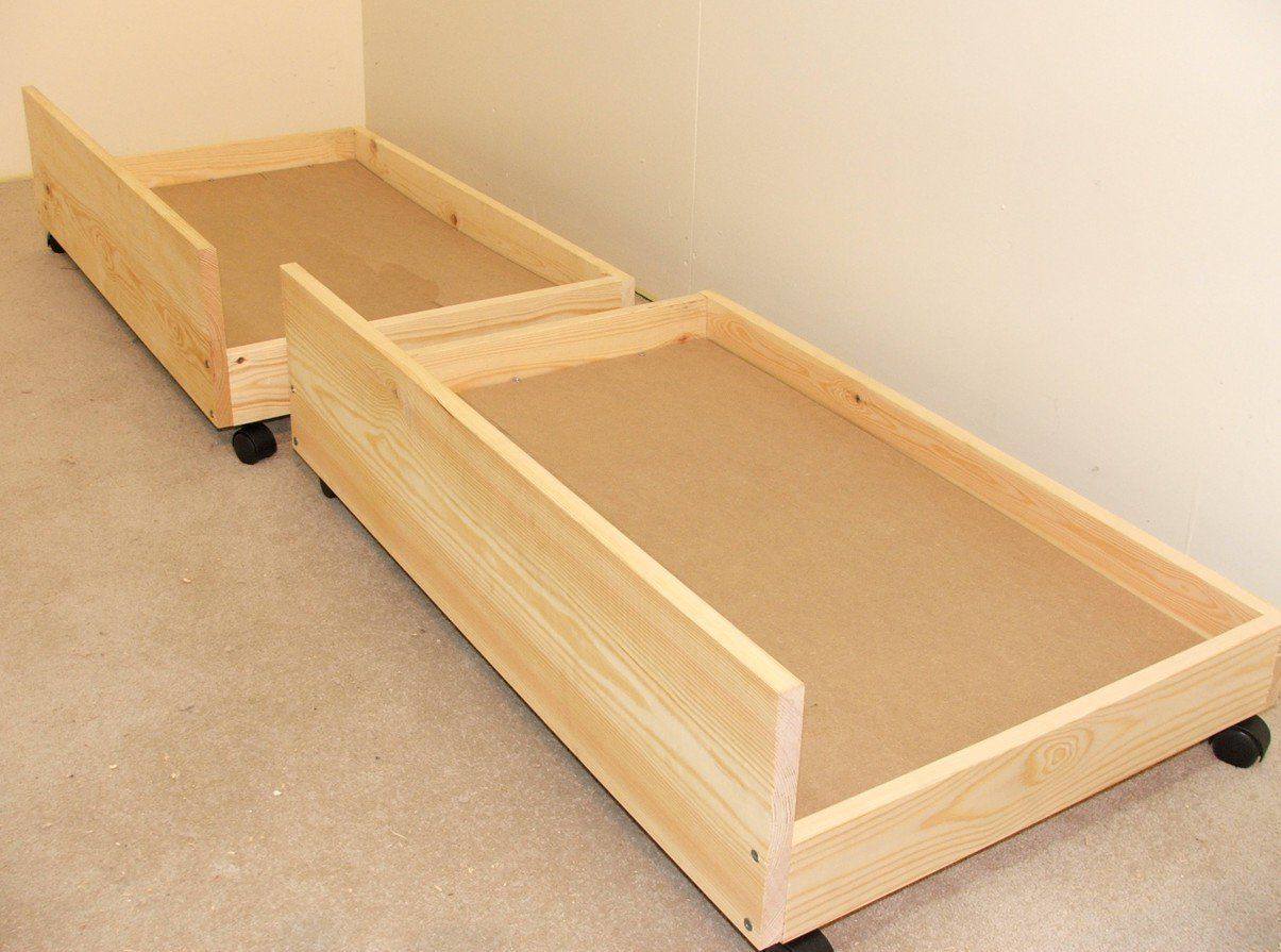 Under Bed Storage Drawers   Set Of Two Storage Underbed Draws: Amazon.co.
