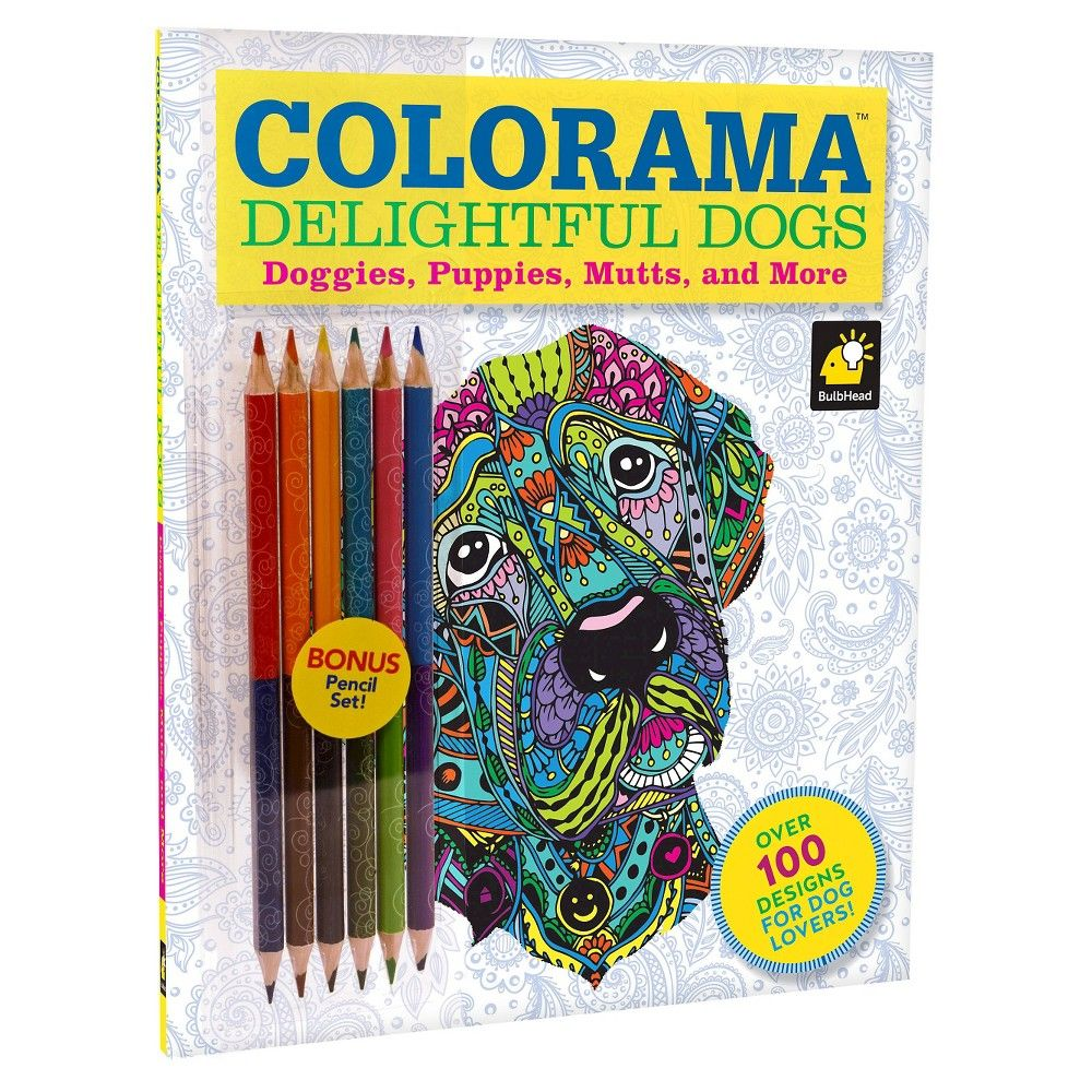 as seen on tv colorama delightful dogs  dog coloring book