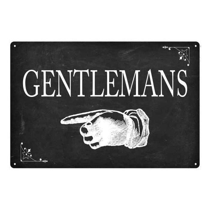Gentlemans…Left Arrow Funny Bathroom Gift 8x12 Metal Sign ...