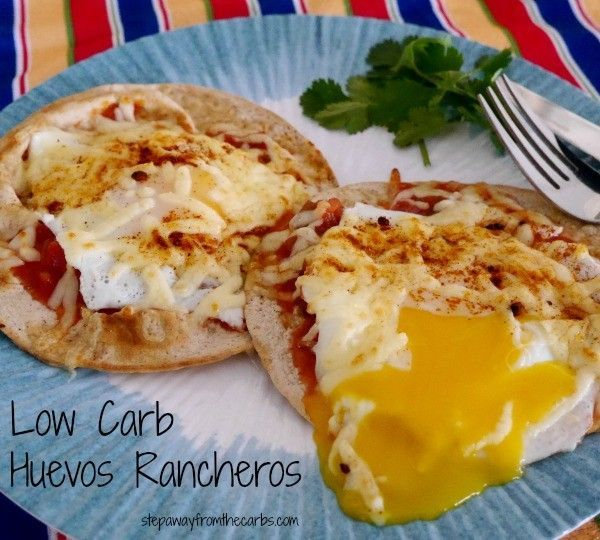 Try this low-carb huevos rancheros breakfast or lunch recip. It's healthy, low-carb and full of protein from eggs and cheese.