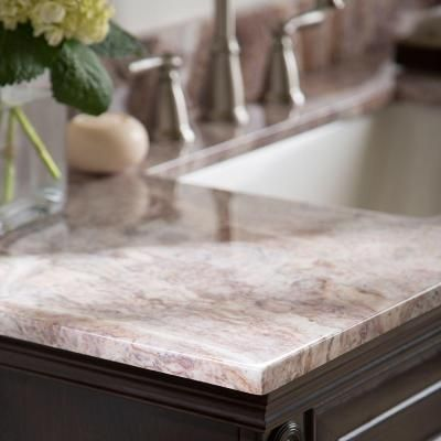 St Paul 4 In Stone Effects Vanity Top Sample In Tuscan Sun