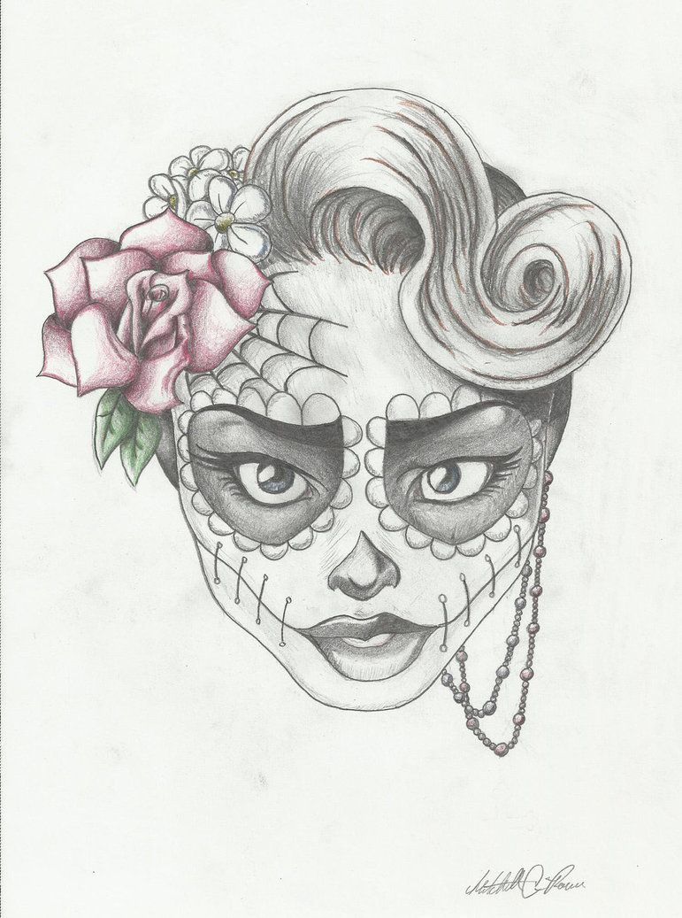 Sugar Skull Girl 6 by https://www.deviantart.com ...