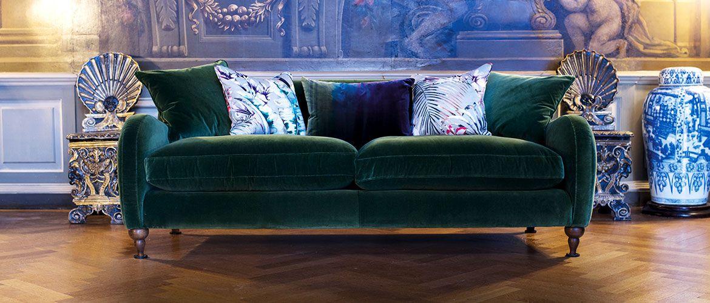 Beautiful British Handmade Velvet Sofas