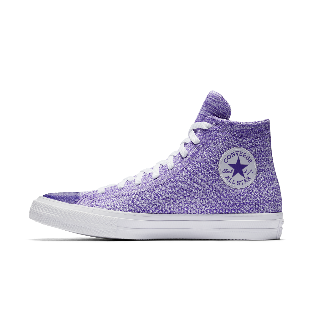 e63c7ebb20d916 Converse Chuck Taylor All Star x Nike Flyknit High Top Shoe Size 10.5  (Purple)