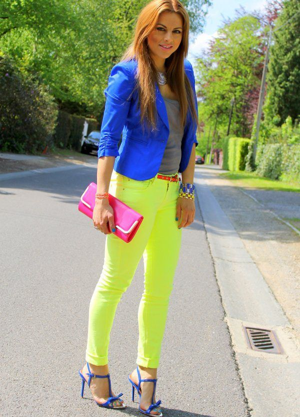 azul y neon