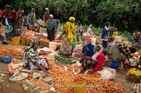 Vegetables for sale in the market, Lushoto, Usambara Mountains, Tanzania