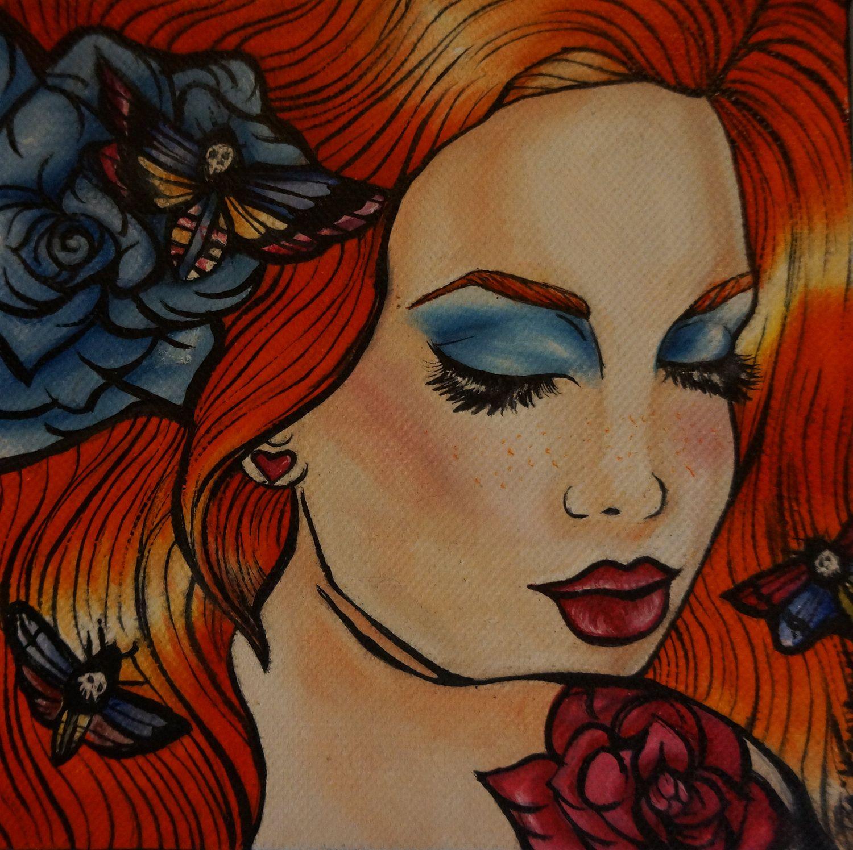 Tattoo Art Rockabilly Lowbrow Pin Up Girl Home Decor