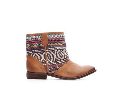 Image 1 of ETHNIC LEATHER ANKLE BOOT from Zara