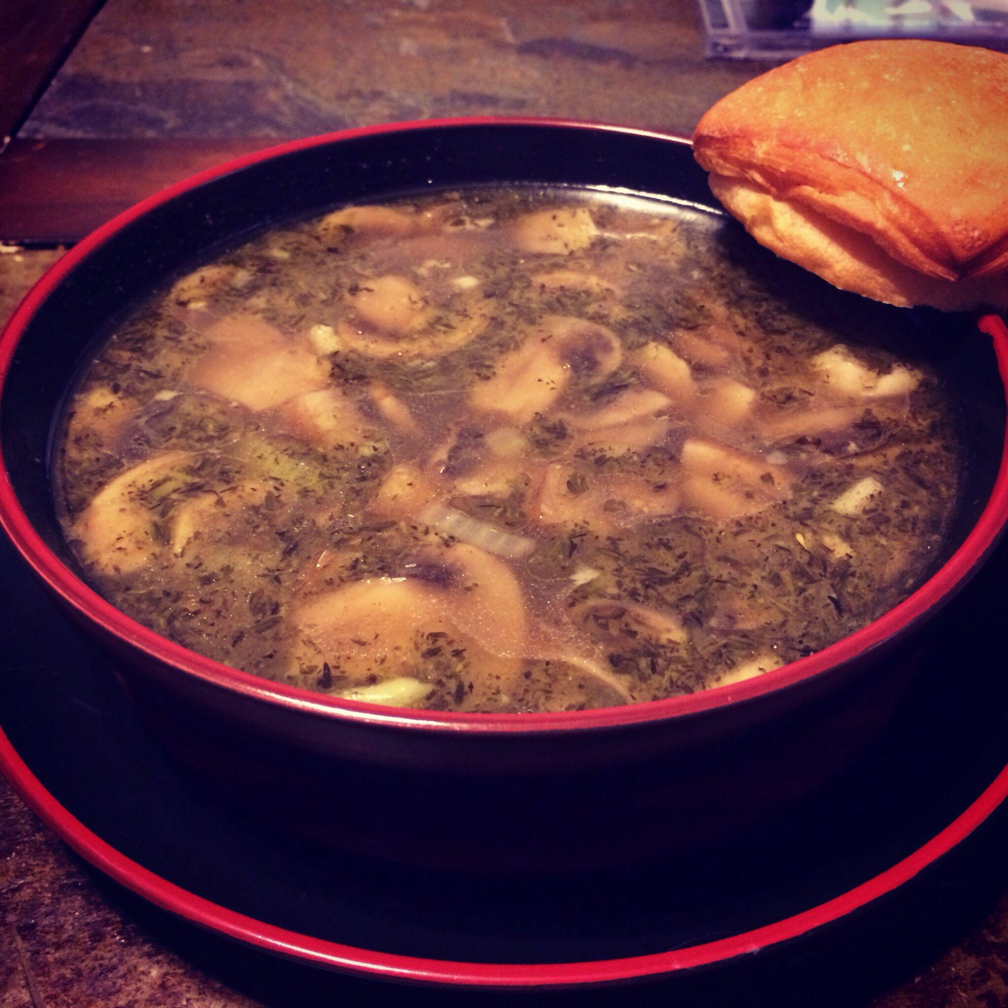 Ham Hock and Mushroom soup