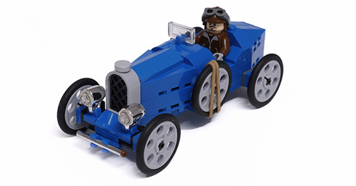 Build Your Own Vintage Bugatti From Lego Instructions Lego