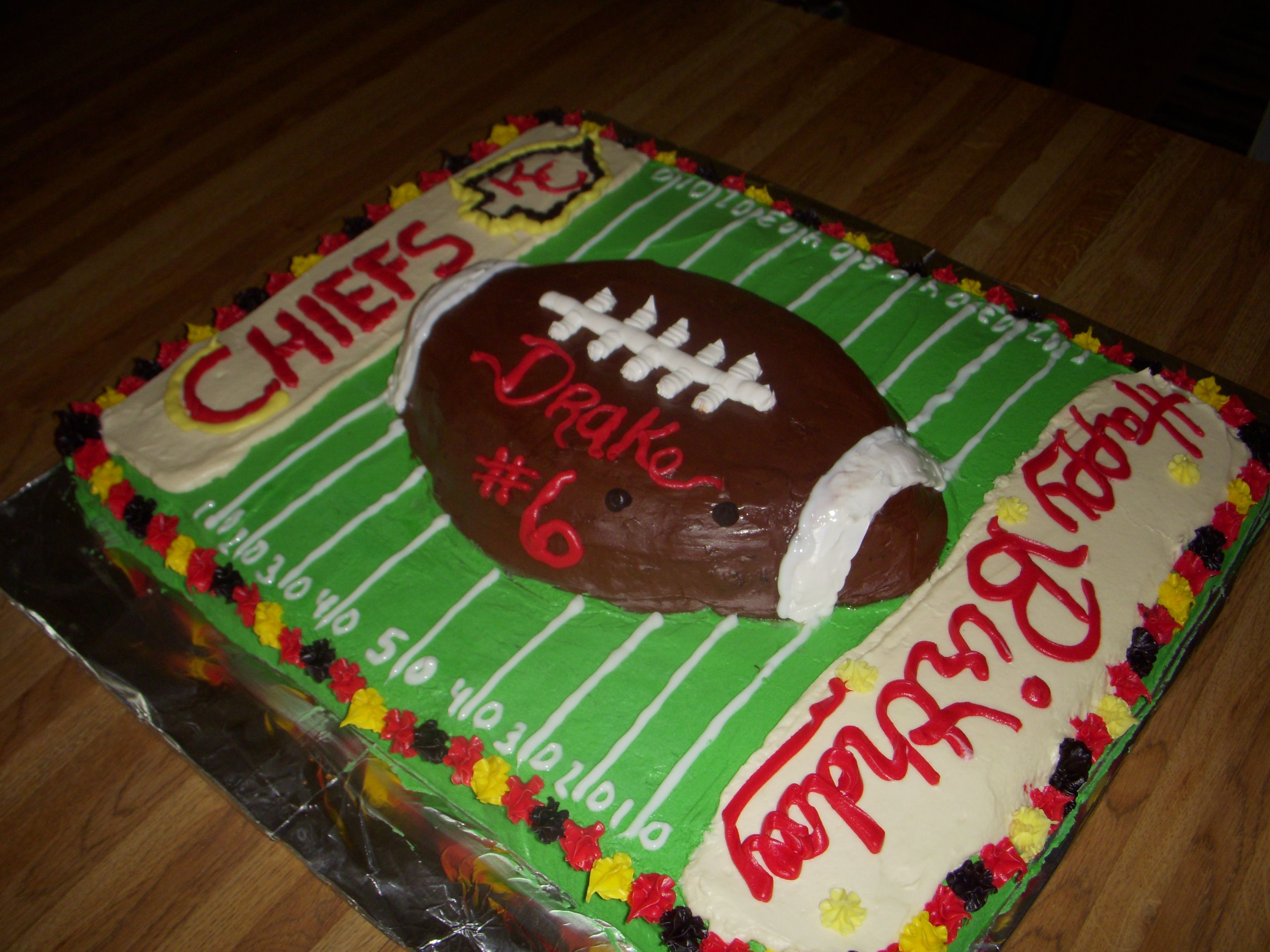 Kansas City Chiefs Birthday cake Sharing my world Pinterest
