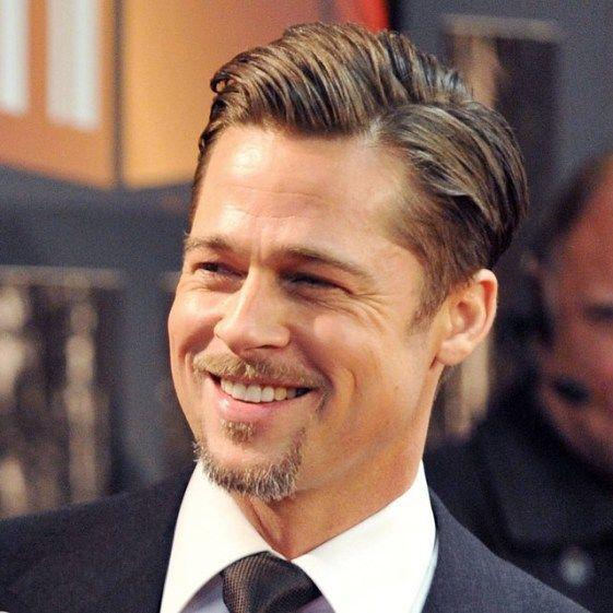 Brad-pitt-side-part-haircut | Brad Pitt | Pinterest | Brad pitt ...