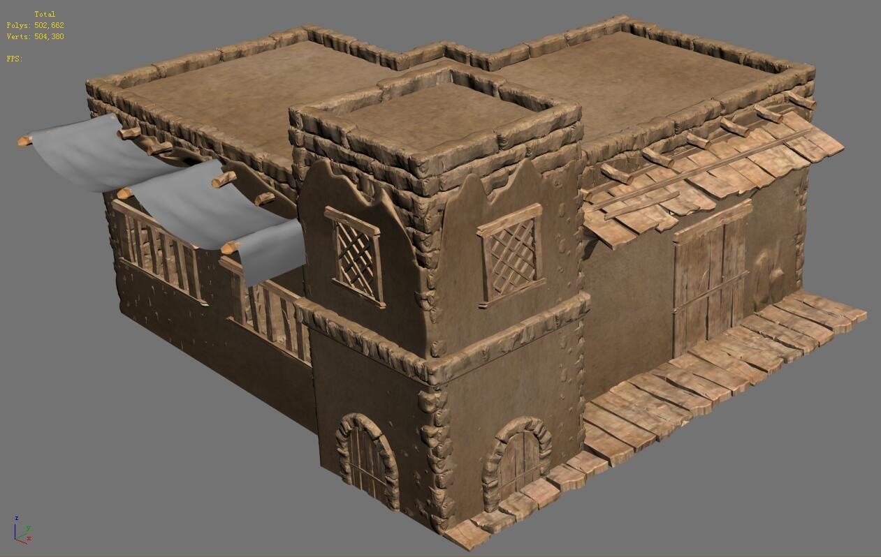 desert ancient battlefield house 04 brochure template simple