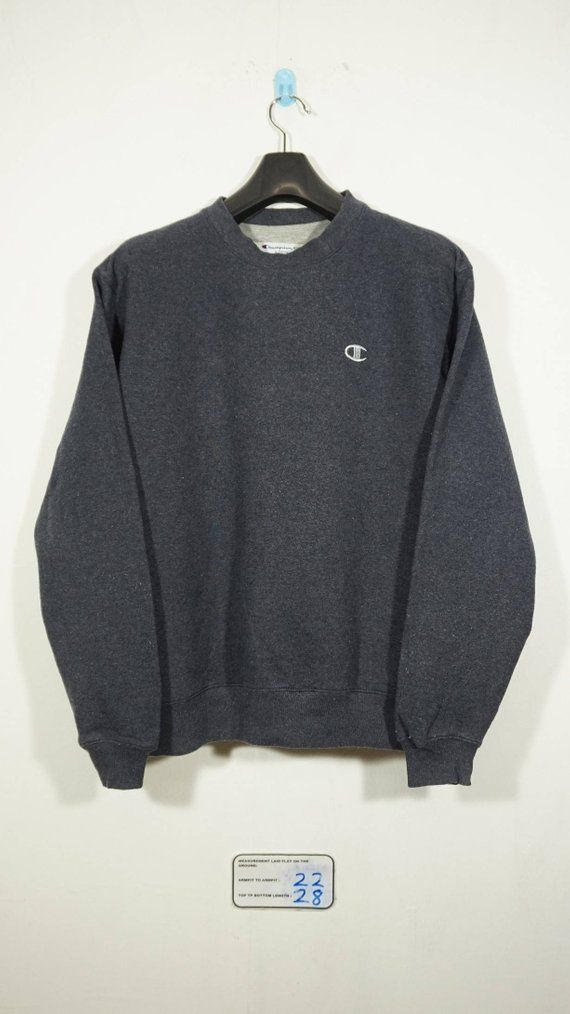 Vintage Champion Dark Grey Sweatshirt Size Medium m   Champion sweater   Champion  Sweatshirt   Champ ca4c3a355b