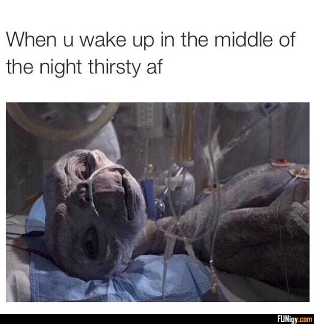 When U Wake Up In The Middle Of The Night Thirs Middle Night Thirsty Wake Funny Pictures Funny Memes Funny