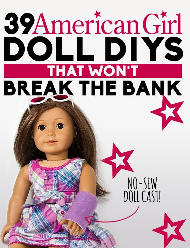 39 American Girl Doll DIYs That Won't Break The Bank #toydoll