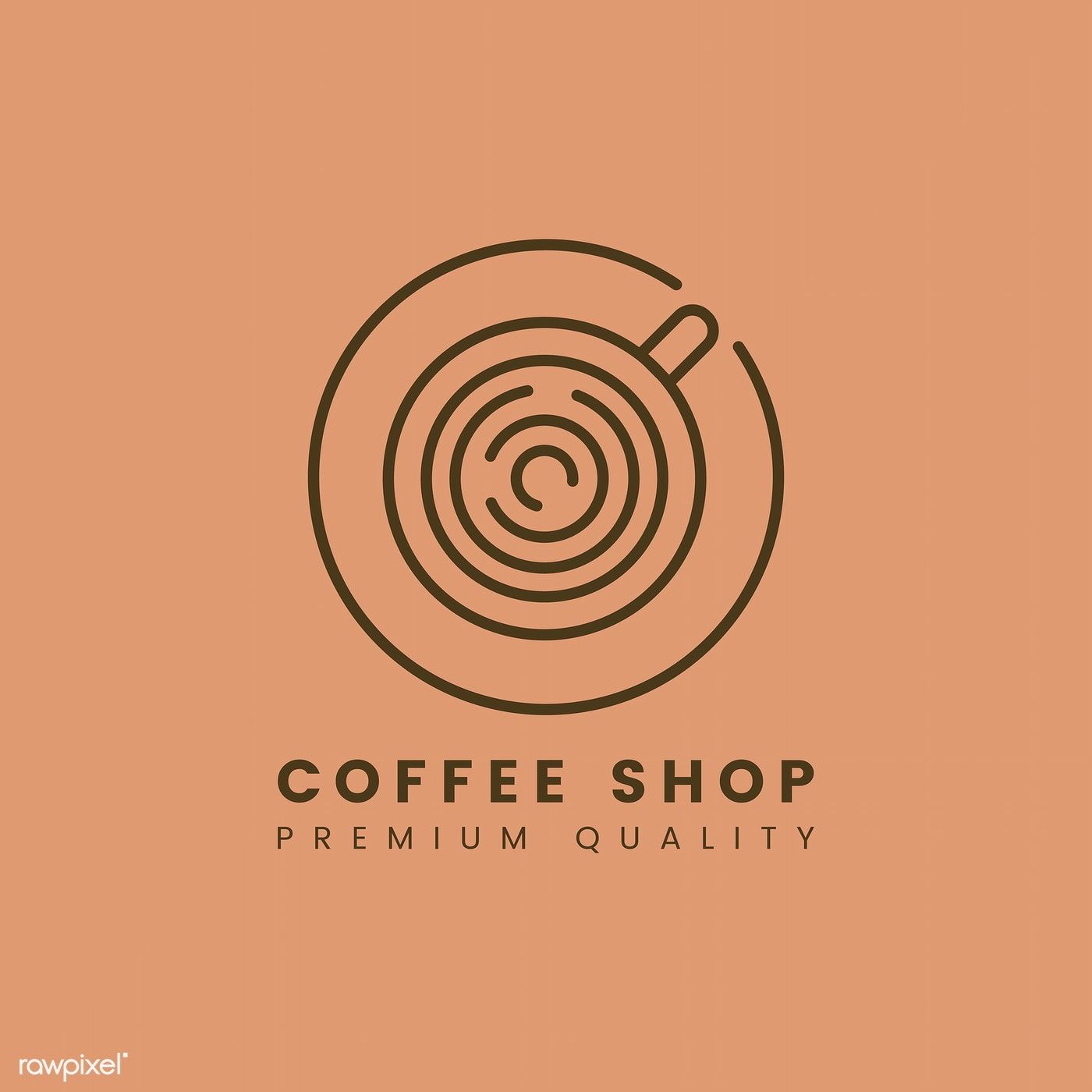 Premium quality coffee shop logo vector | free image by