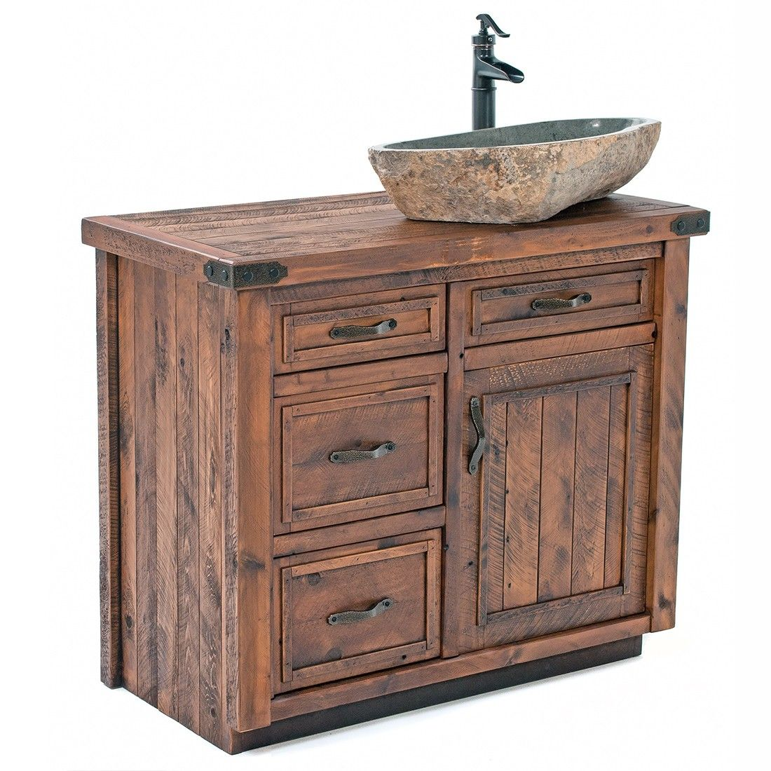 Timber Haven Rustic Barnwood Vanity 24 42 Timber Bathroom Vanities Rustic Bathroom Vanities Rustic Vanity
