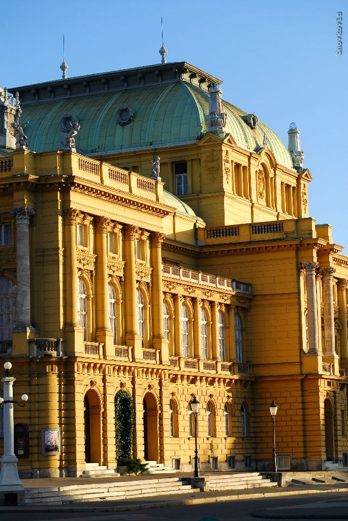 Hnk Croatia Detail Theatre Opera And Ballet House Located In Zagreb Zagreb Croatia Croatia Zagreb