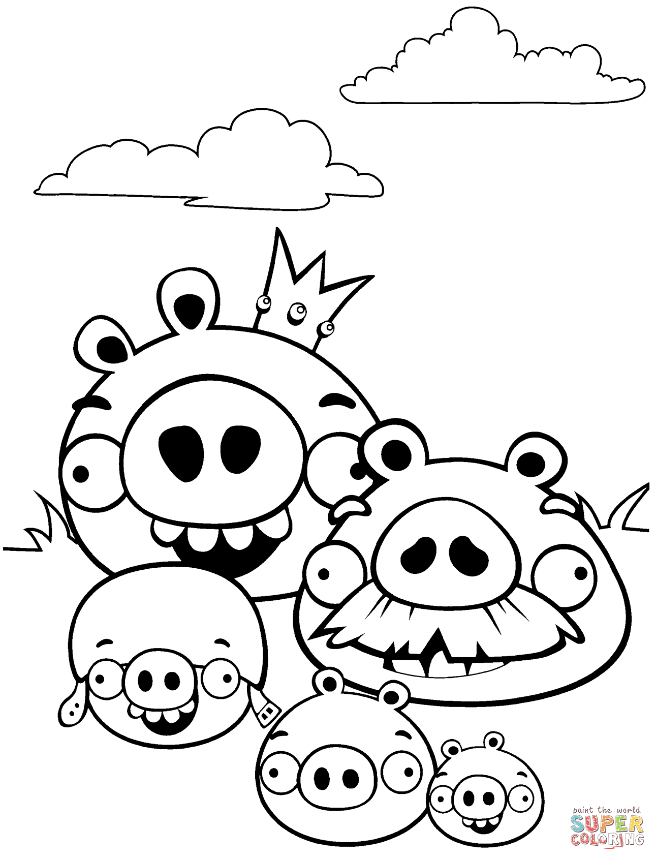bad-piggies-coloring-page.png (1291×1692) | Kids\' Coloring Pages ...