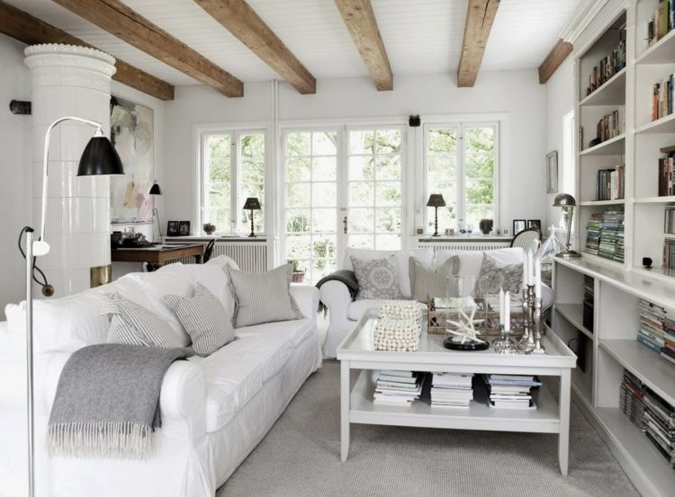 Salon gris y blanco - la tendencia de esta temporada - | Salones ...