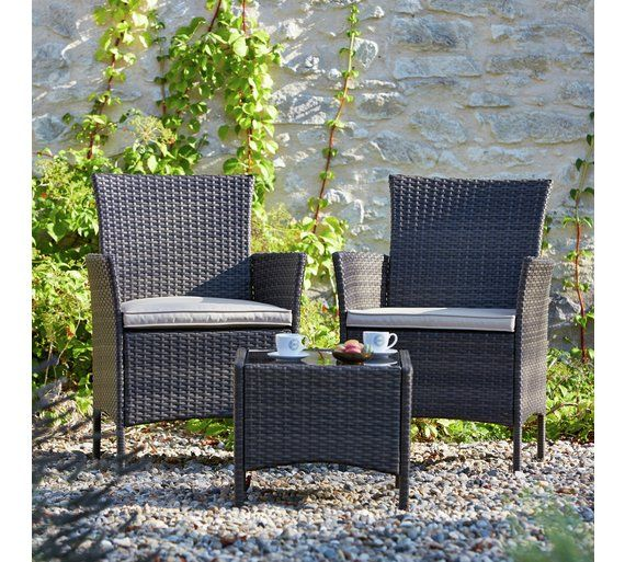 Buy Collection Fiji Rattan Bistro Set Grey At Argoscouk Visit Cool Home And Garden Furniture Collection
