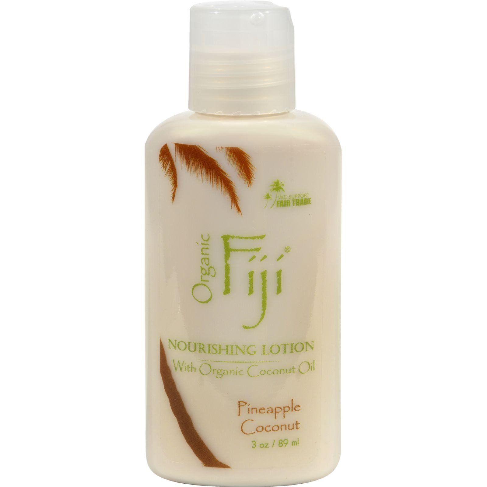 Organic Fiji Coconut Lotion - Pineapple - 3 Oz