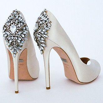 Awesome Badgley Mischka Kiara Wedding Shoes Ivory
