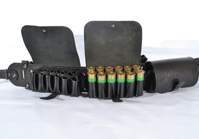 Holsters, Belts & Pouches Ammunition Belts & Bandoliers Cartridge Carrier Bullet Vintage Original Military Shotgun Ammo Shells Belt