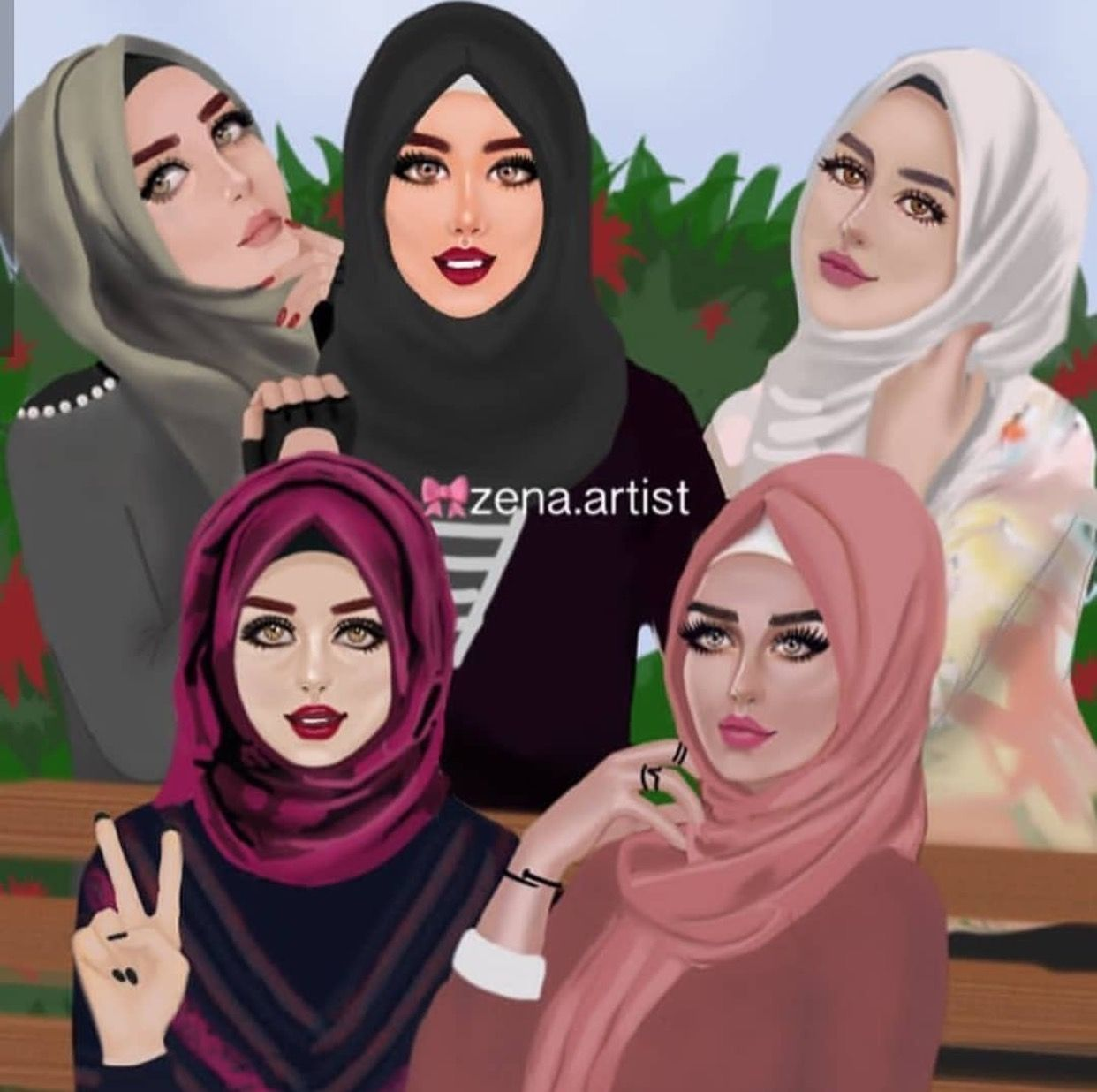 Hijab fashion (With images) Girly art, Girly drawings